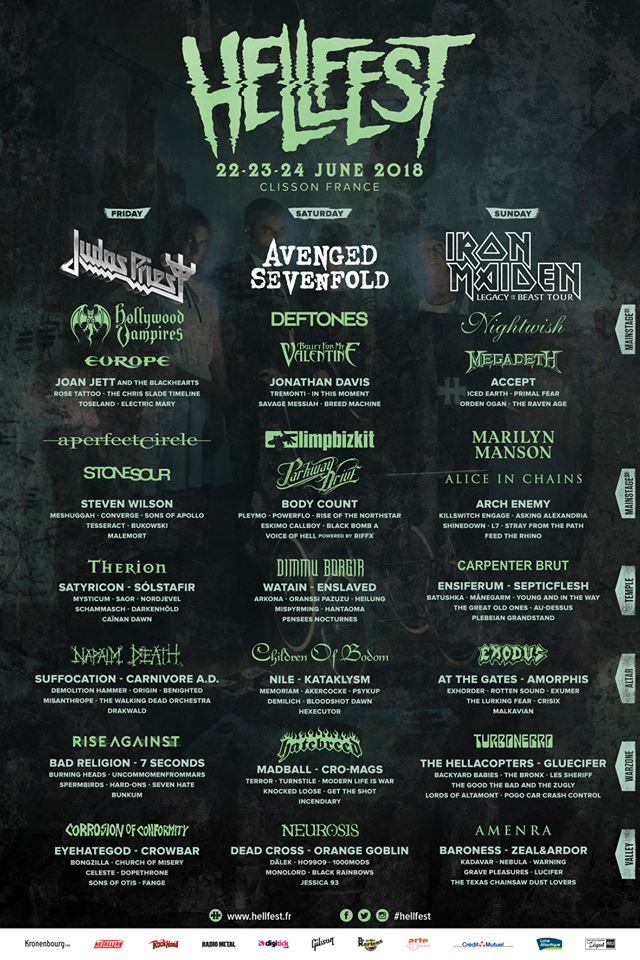Affiche Hellfest Open Air 2018